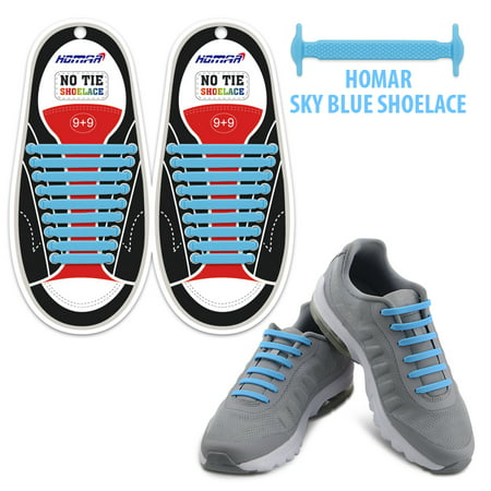 390a20bbb6e5 Homar No Tie Elastic Shoelaces for Athletes Adults- Best in Sports Fan  Shoelaces - Rubber