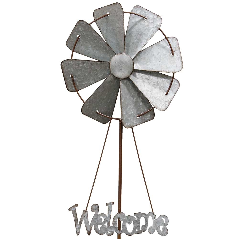 Welcome Windmill Garden Stake by The Hearthside Collection