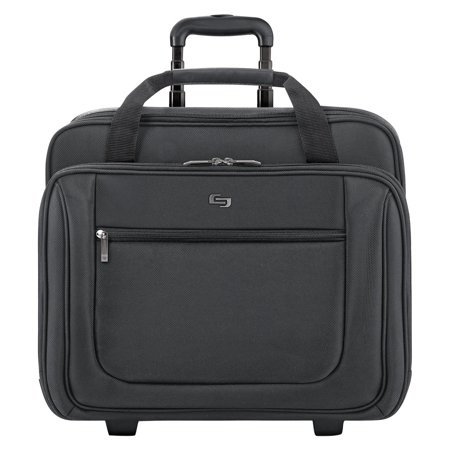 Solo, USLPT1364, US Luggage Classic Rolling Laptop Portfolio Case, 1, Black Laptop Portfolio Case