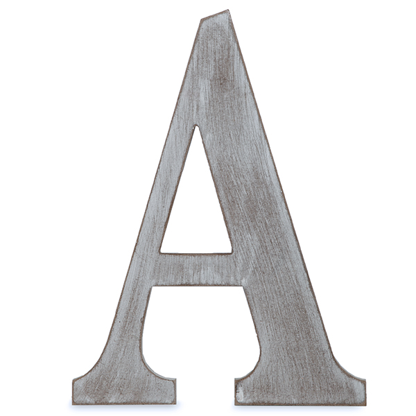wood block letter a charcoal grey 24in walmart com