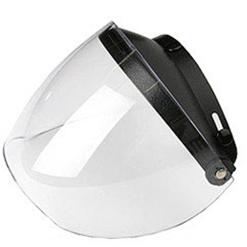 Untreated Flip Shield (Smoke), 301105 MXL Motorcycle Shield Smoke Flip Clad Free Clear Accessories Untreated Scratch Helmet Armor by Street Resistant.., By Mxl Industries Ship from US
