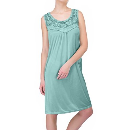 Women's Sheer Silky Sleeveless Nightgown by