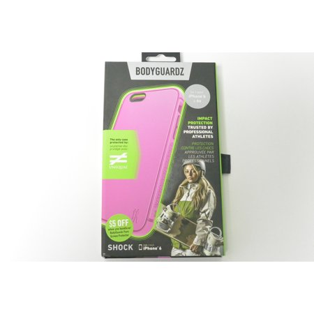 New Authentic Oem Bodyguradz Iphone 6 And Iphone 6S Pink Shock Case With Unequal