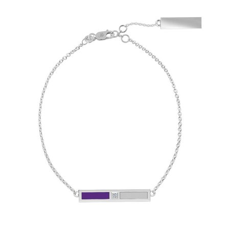 Texas Christian University - Diamond Bar Bracelet In Purple And Grey