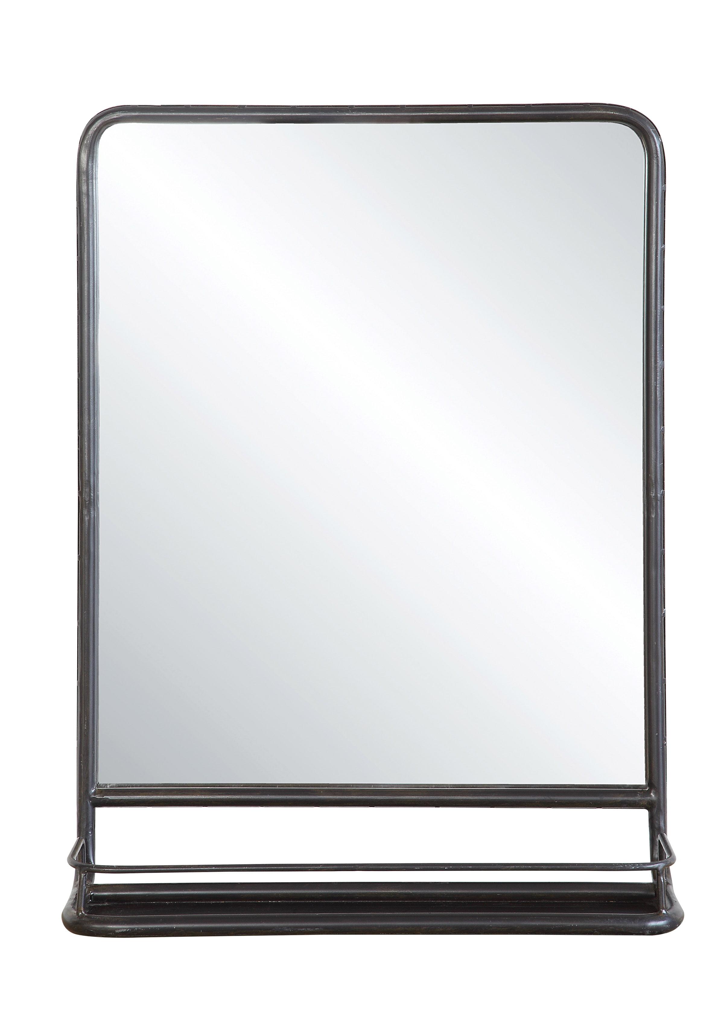 Large Metal Framed Mirror With Shelf Walmart Com Walmart Com