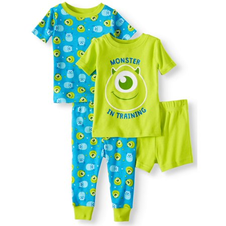 Monsters,inc. Cotton tight fit pajamas, 4pc set (baby boys) - Baby Monster Inc