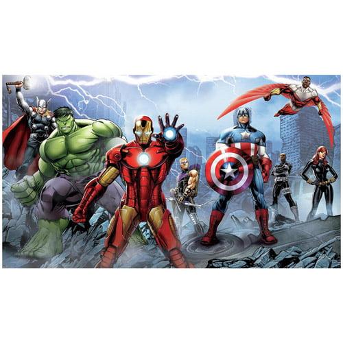 Avengers Assemble 6' x 10.5' Mural, Ultra-Strippable