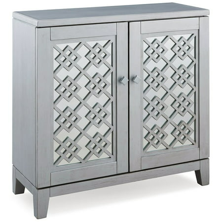 Leick Diamond Mirrored Console Table in Silver Leaf Antiqued Mirror Console Table