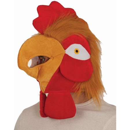 Rooster Head Chicken Hat Face Mask Adult Costume Plush Velvet Funny - Funny Face Mask