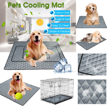 - Pet Cooling Mat Non-Toxic Cool Pad Cooling Pet Bed for Summer Dog Cat Puppy - Light,Thin & Breathable,Foldable,Anti-skid,Hygienic,Comfortable