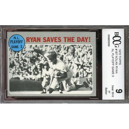 1970 Topps  197 Nolan Ryan Nl Playoff Game 3 New York Mets Bgs Bccg 9