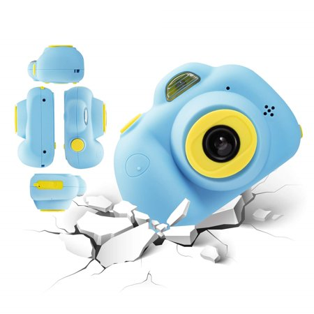 Kids Toys Camera for 3-6 Year Old Girls Boys, Compact Cameras for Children, Best Gift for 5-10 Year Old Boy Girl 8MP HD Video Camera Creative Gifts,Blue(16GB Memory Card Included), (Best Camera For 5 Year Old)
