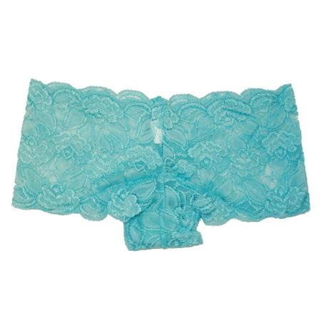Flirtzy Stretchy Boy Shorts Hipster Floral Soft Lace Tanga Panty Underwear lingerie Women's Panties (Ruffle Tanga Shorts)