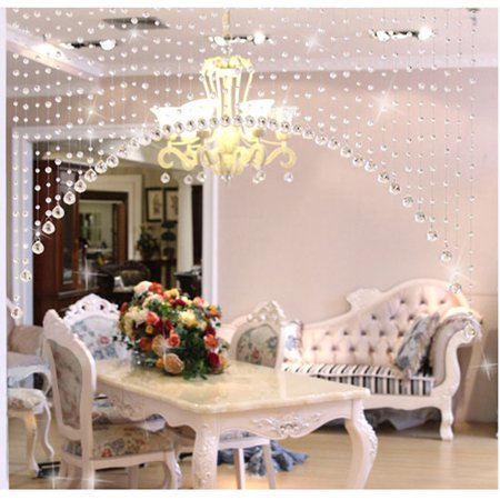Outtop 1 Luxury Glass Beads Door String Tassel Curtain Wedding Divider Panel Room Decor - Hippie Door Beads