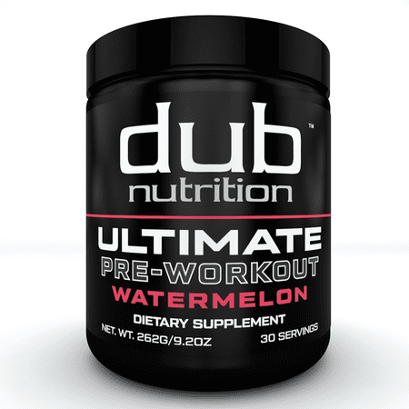 Ultimate Pre Workout |By dub Nutrition Supplements| (Watermelon) Energy Pump Formula, Low Carbs, Muscle Builder, Nitric Oxide Boost, Beta Alanine, Citrulline, L-Arginine,