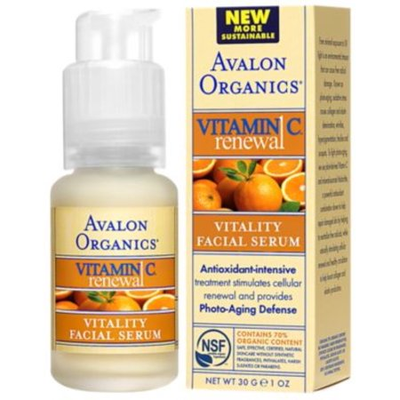 Avalon Organics Intense Defense with Vitamin C, Facial Serum 1 oz (Pack of