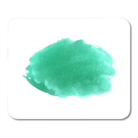 KDAGR Emerald Colorful Color Abstract Watercolor White Turquoise Green Spot with Salt Stains Water Mint Mousepad Mouse Pad Mouse Mat 9x10 inch