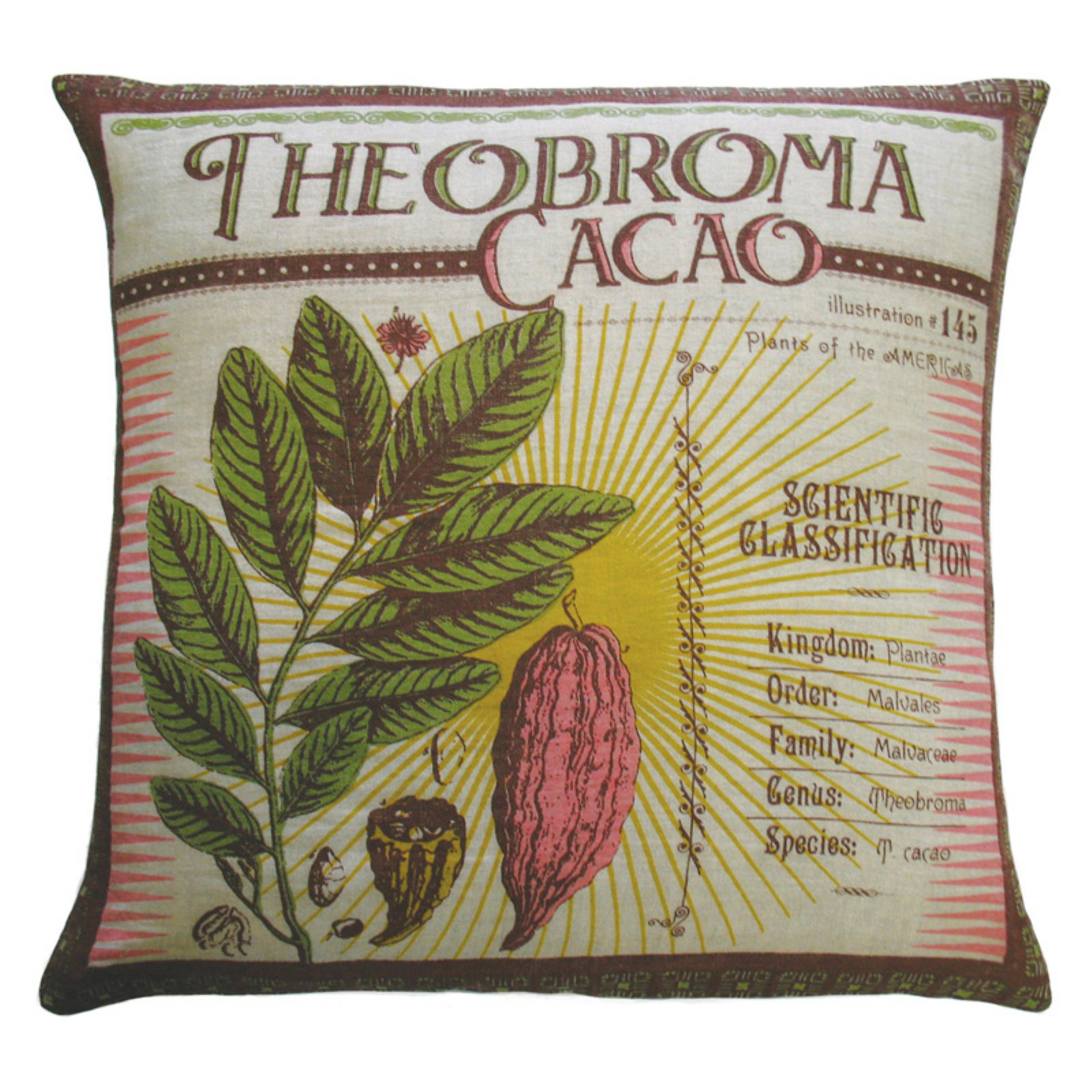 Koko Company Botanica Theobroma Cacao Decorative Pillow