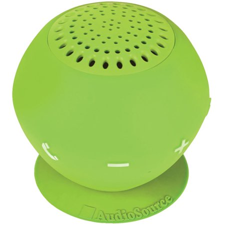 AudioSource SP2GRE Sound pOp 2 Water-Resistant Bluetooth Speaker, Green