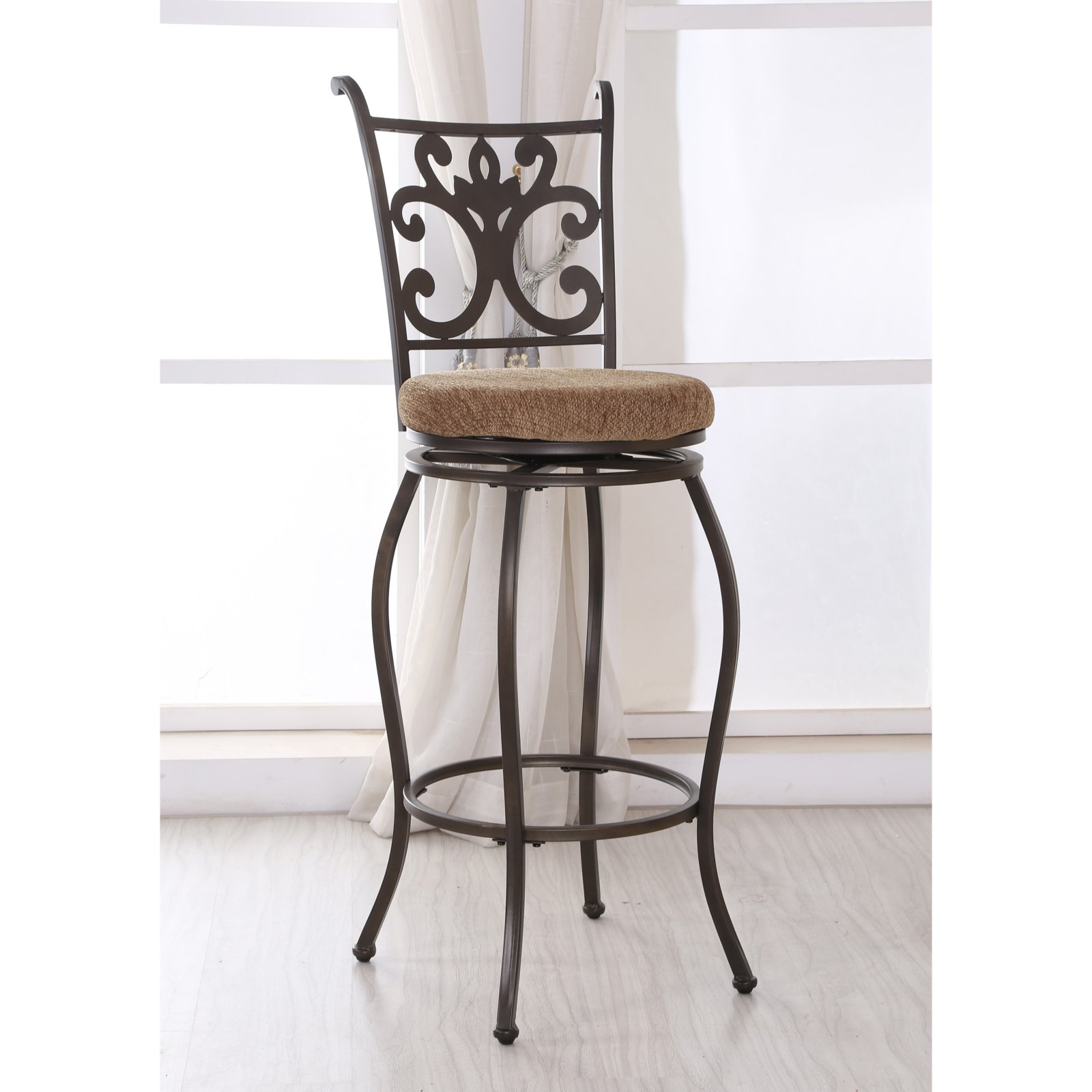 Hodedah Imports 29 in. Bar Stool in Brown