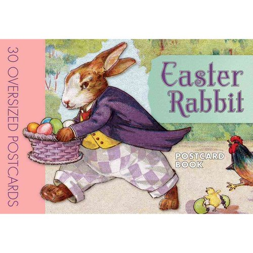 Easter Rabbit Postcard Book: 30 Oversized Postcards