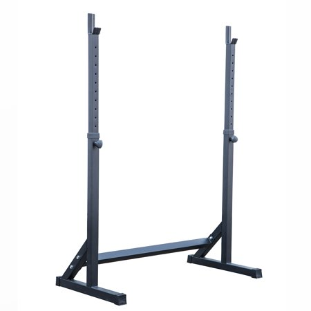 akonza adjustable squat rack stand barball free press bench equipment training cross fit. Black Bedroom Furniture Sets. Home Design Ideas