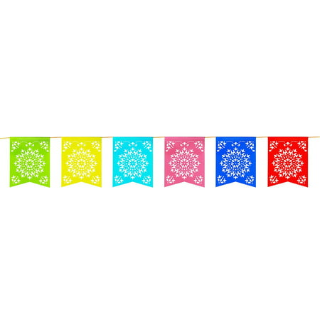 12 foot long rainbow multicolored flag mexican sun del sol for Outlet del design