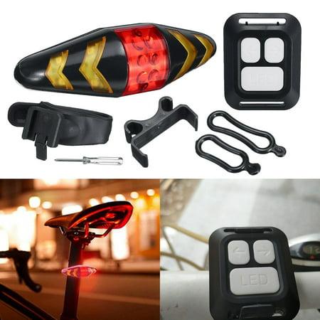 Bicycle LED Taillight Wireless Waterproof Remote Control 5 Warning Turn Signal Bike Tail Rear Safety Warning Light Lamp Mountain Cycling (Best Mountain Bike Lights 2019)