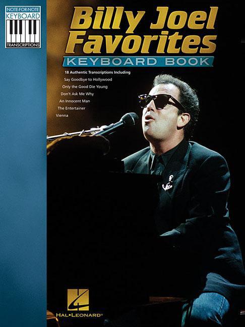 Billy Joel Favorites Keyboard Book by