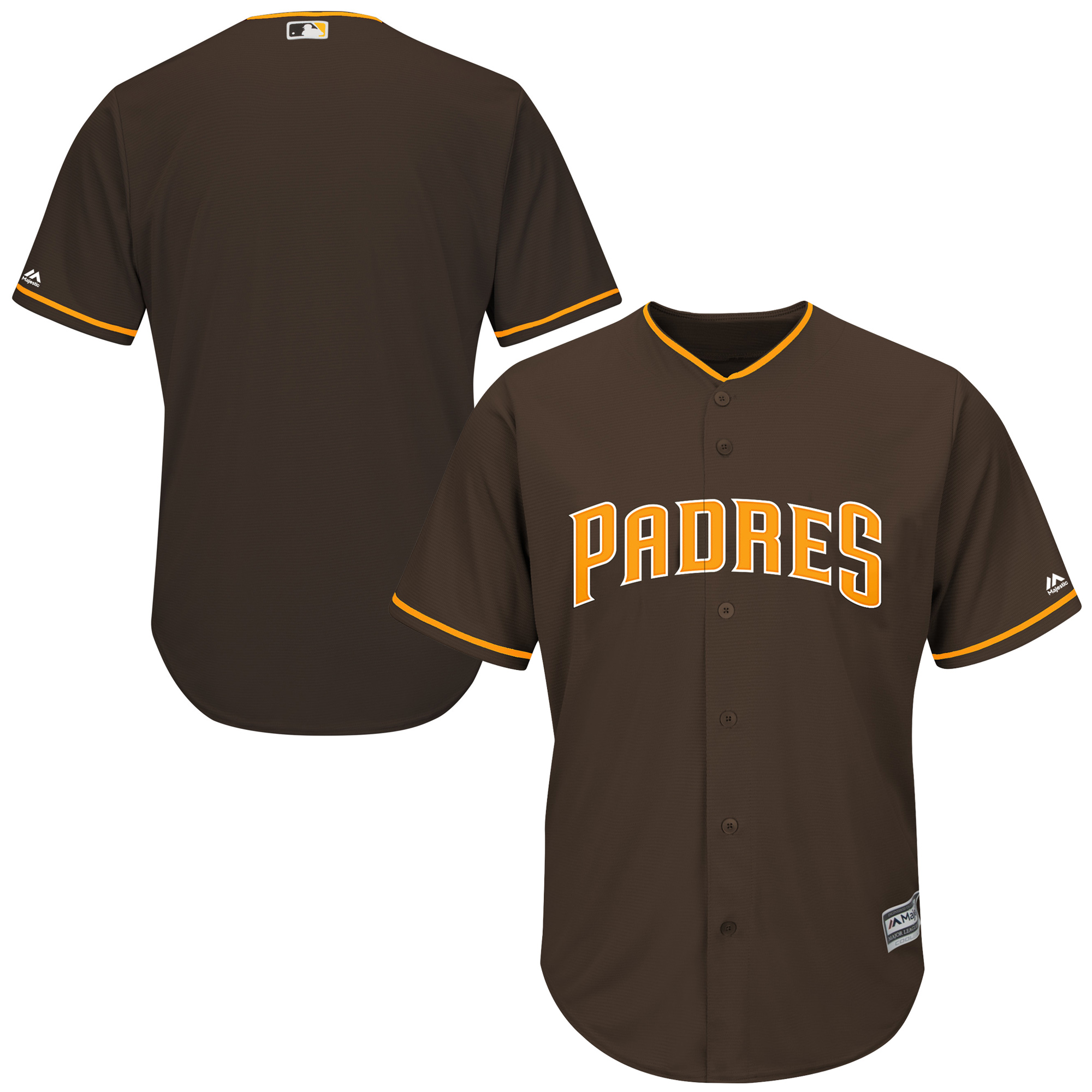 San Diego Padres Majestic Official Cool Base Jersey - Brown