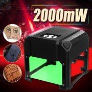 3000mW/2000mW/1500mW Desktop Laser Engraving Machine Marking Engraver Cutter Printer Black/golden/purple