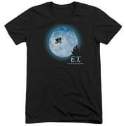 Et Moon Scene Mens Tri-Blend Short Sleeve Shirt