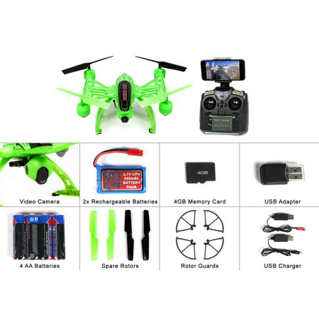 Mini Orion Camera Drone Live Feed LCD Screen 2.4GHz 4.5-Channel R/C Quadcopter