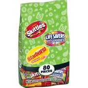 Skittles/Lifesavers/Starburst Candy Variety, 80 ct,  22.7 oz Bag