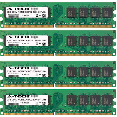 8GB Kit 4x 2GB Modules PC2-5300 667MHz NON-ECC DDR2 DIMM Desktop 240-pin Memory - Pc25300 Non Ecc 240 Pin