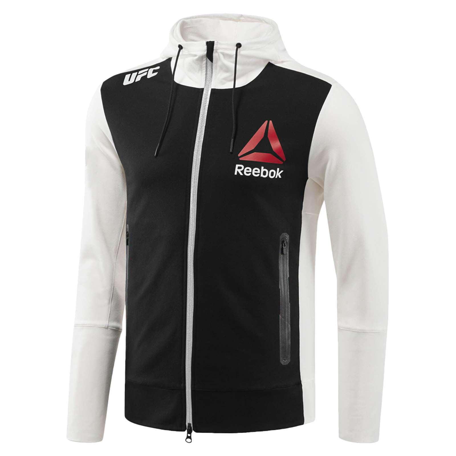 Reebok Women/'s X UFC FK Walkout Full Zip Long Sleeve Hoodie Jacket Tag-less NEW