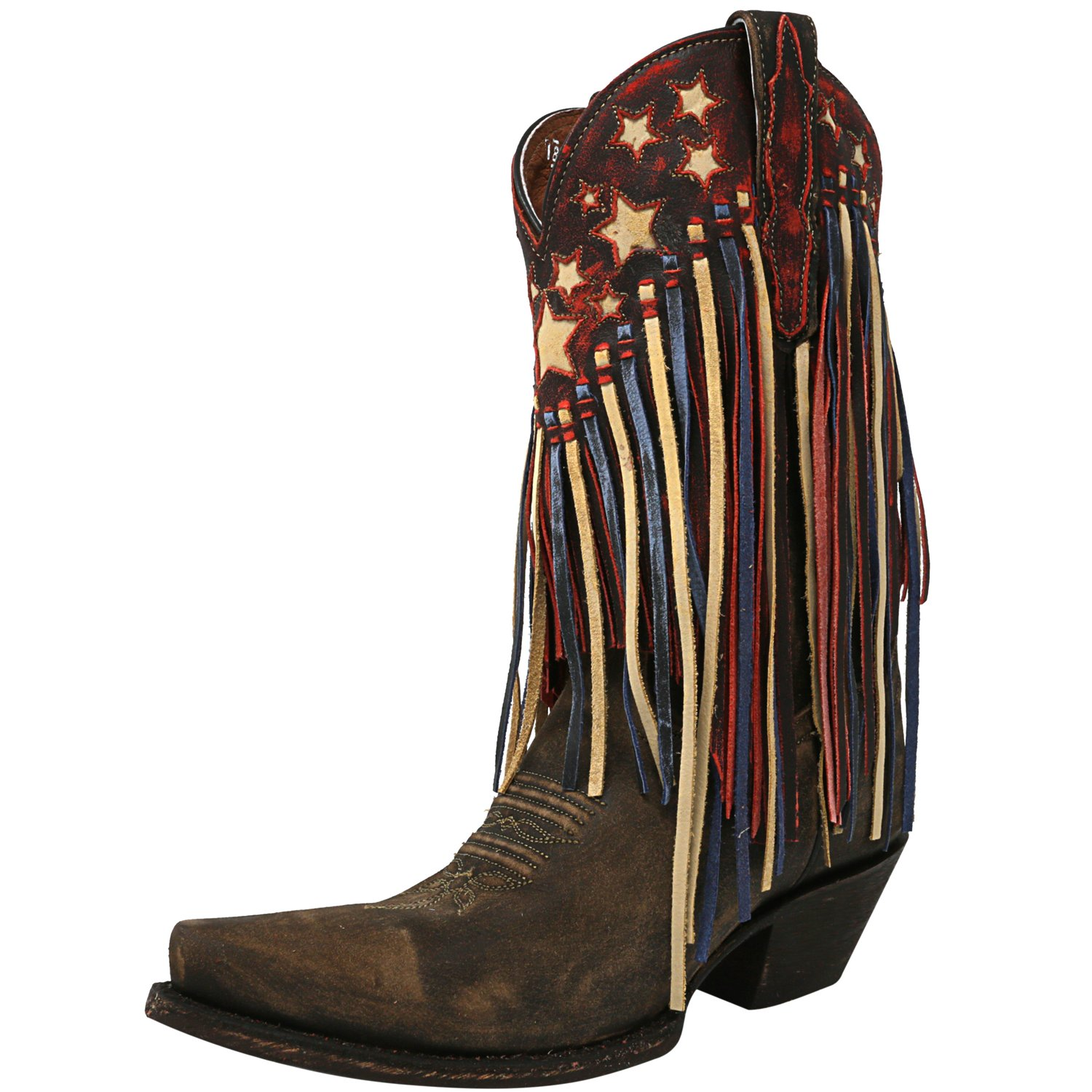 Dan Post Women's Liberty Fringe Brown Mid-Calf Leather Bo...