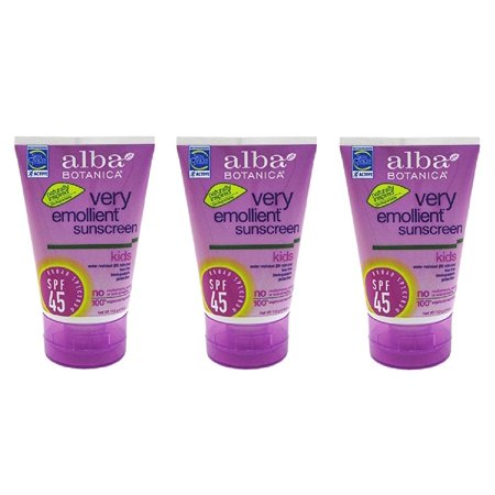 Alba Botanica Very Emollient Mineral Spray Sunscreen SPF 35, Fragrance Free, 6 Oz (3 Pack)