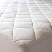 Abstract Quilted Mattress Pad White Fitted Waterproof Cotton Protector Cover (24 x 38 (Mini Crib)) (24 x 38 (Mini Crib))
