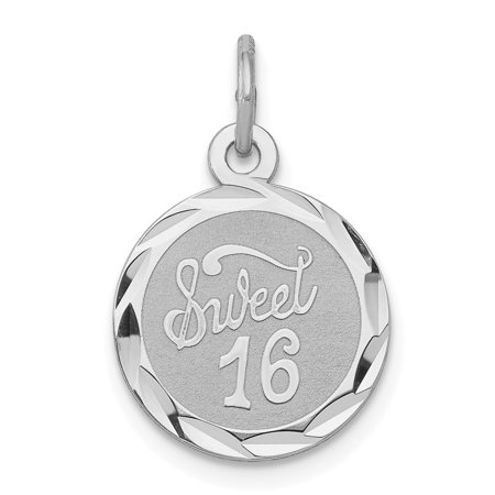 925 Sterling Silver Sweet Sixteen Girl 16 Birthday Disc Pendant Charm Necklace Special Day Fine Jewelry Ideal Gifts For Women Gift Set From - Sweet Sixteen Jewelry Ideas