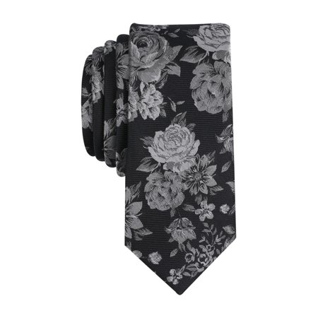 Circle Pattern Silk Necktie (Thalia Floral Patterned Skinny Mens Silk Blend Necktie Not Applicable )
