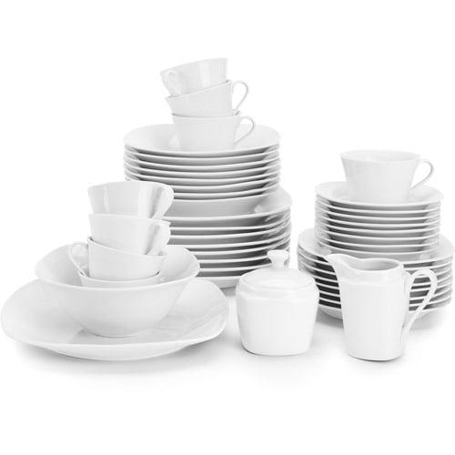10 Strawberry Street Simply White Square 45-Piece Entertaining Dinnerware Set