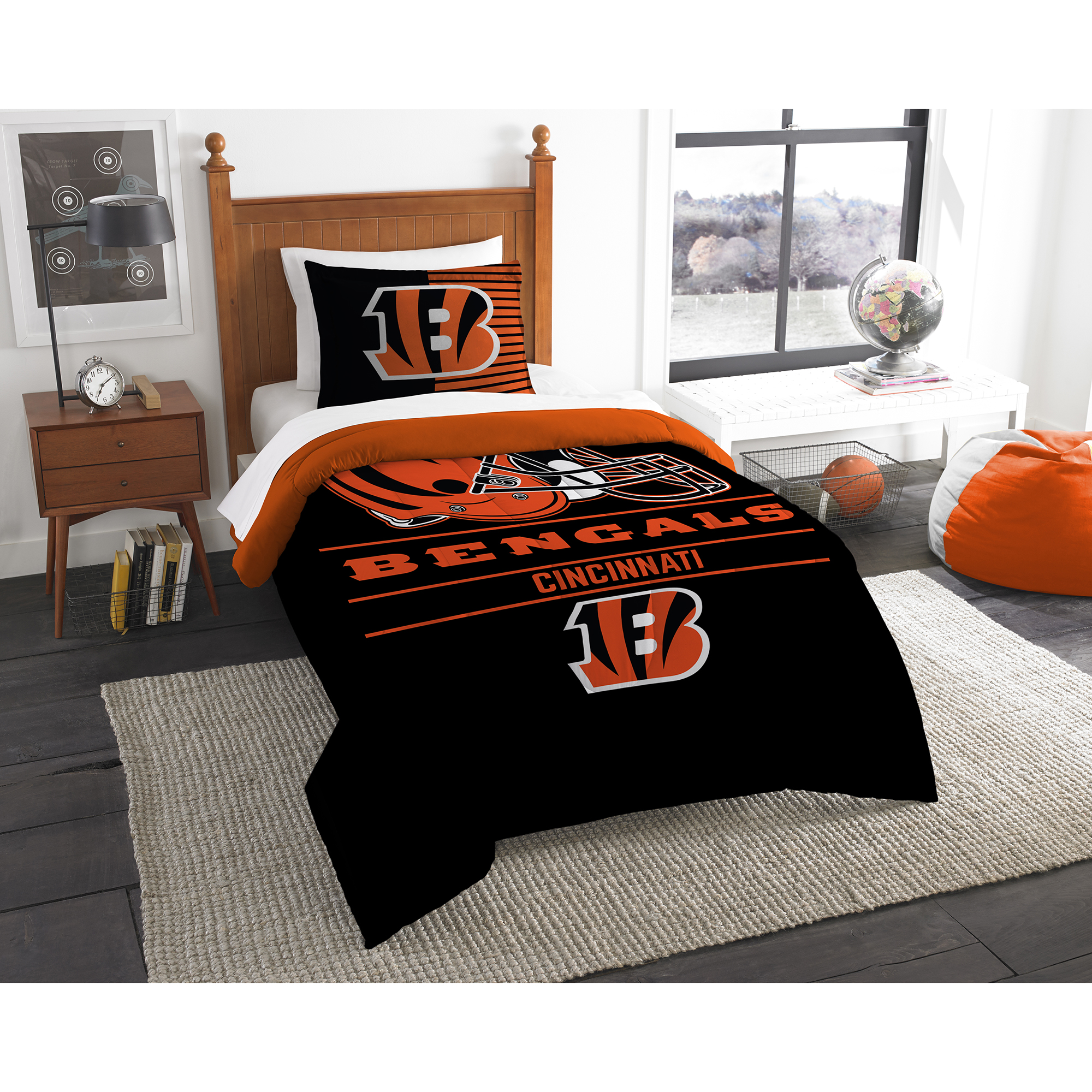 Cincinnati Bengals The Northwest Company NFL Draft Twin Comforter Set - No Size