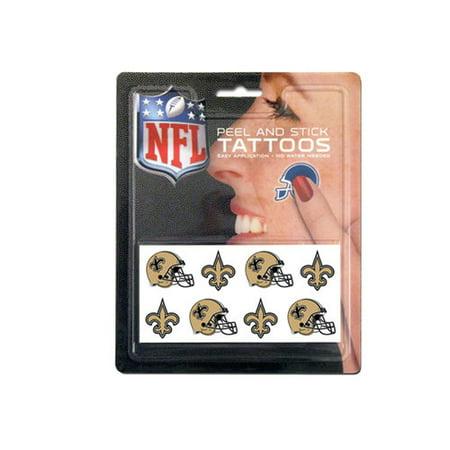 NFL New Orleans Saints Tattoo Set, 8-Piece