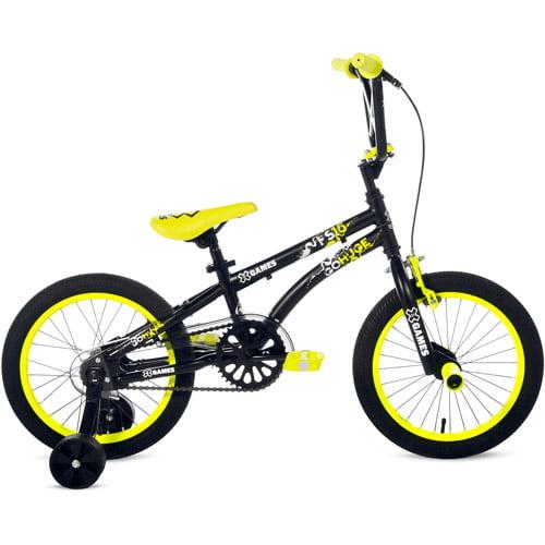 X Games 16 Fs16 Bmx Boy S Bike Black Yellow Walmart Com Walmart Com