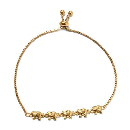 Hypoallergenic 14K Yellow Gold Plated Tennis Bracelet for Women Jewelry Adjustable