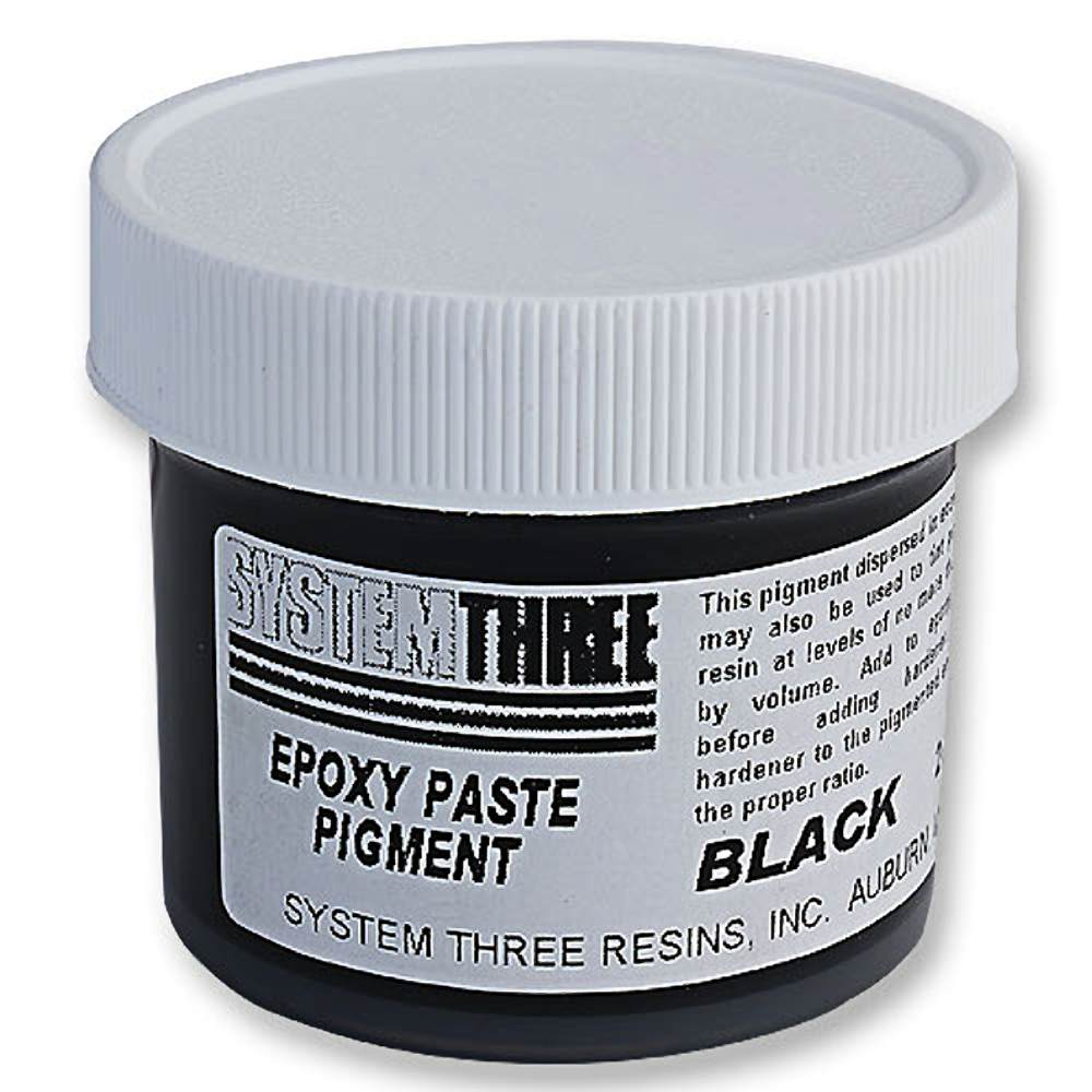 System Three 3201A04 Black Paste Pigment Coating, 2 Oz. Bottle