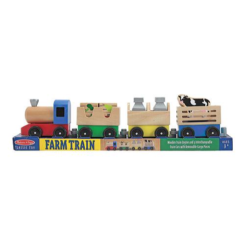 "Children's Melissa & Doug Wooden Farm Train 21"" x 5.25"" x 3"" by Melissa %26 Doug"