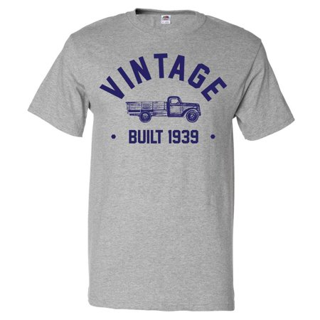 80th Birthday Gift T shirt 80 Years Old Present 1939 Truck Tee