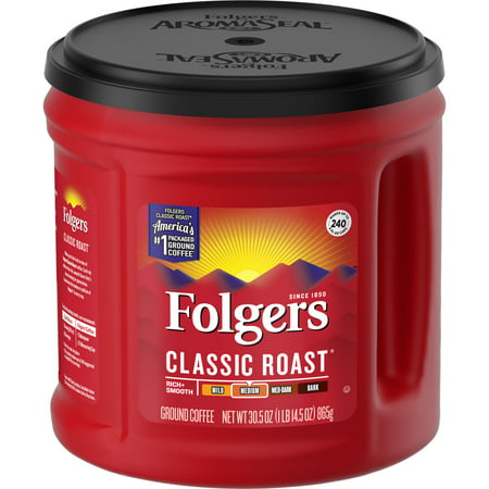 Folgers Classic Roast Ground Coffee, Medium Roast, 30.5-Ounce